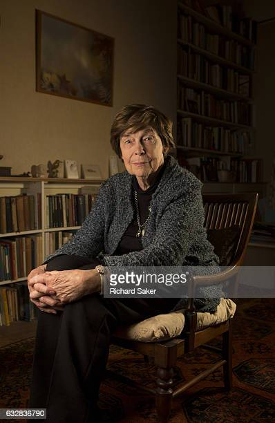 Writer and journalist Katharine Whitehorn is photographed for the Observer on November 14 2016 in London England