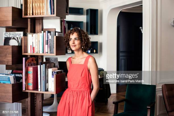 Writer and journalist Leila Slimani is photographed for Paris Match on June 20 2017 in Paris France