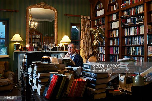 Writer and journalist Robert Harris is photographed for Newsweek on January 23 2012 in Newbury England
