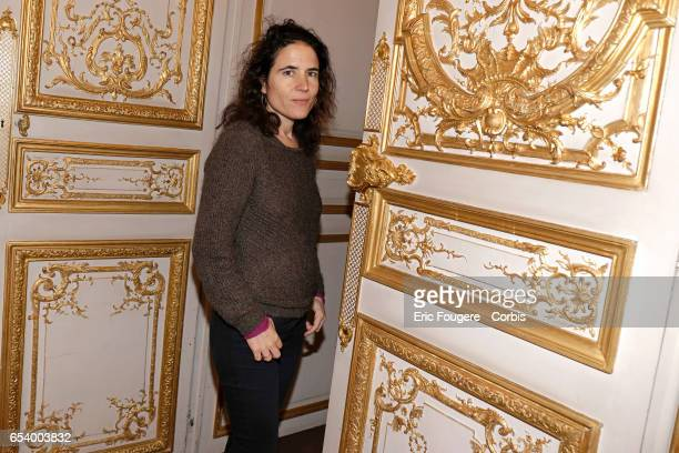 Writer and philosopher Mazarine Pingeot poses during a portrait session in Paris France on