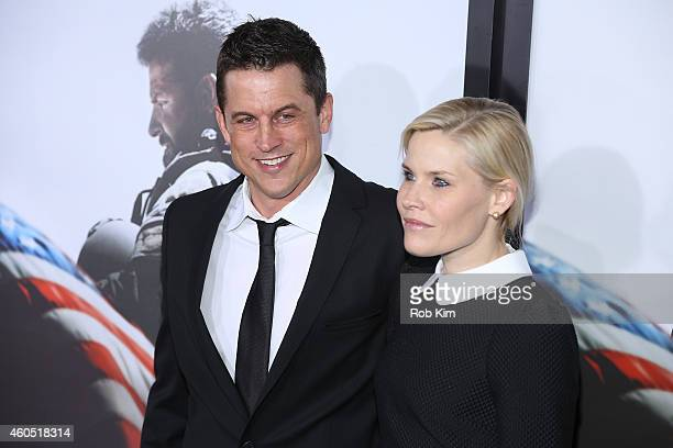 Writer and Producer Jason Hall arrives at the American Sniper New York Premiere at Frederick P Rose Hall Jazz at Lincoln Center on December 15 2014...