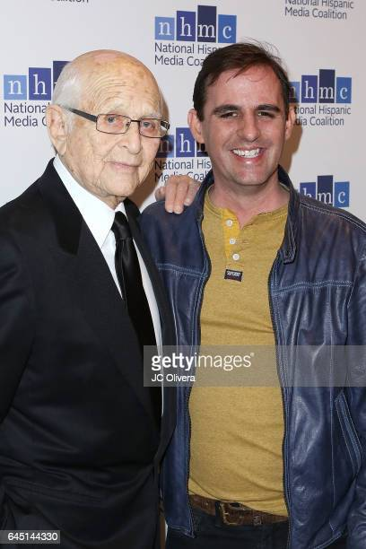 Writer and producer Norman Lear and writer Roberto Orci attend the 20th Annual National Hispanic Media Coalition Impact Awards Gala at Regent Beverly...