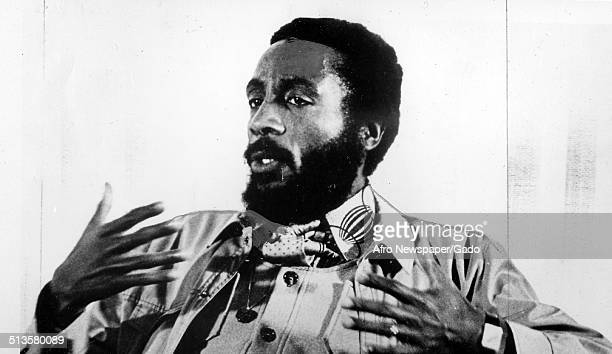 Writer and social activist Dick Gregory during a speech 1972