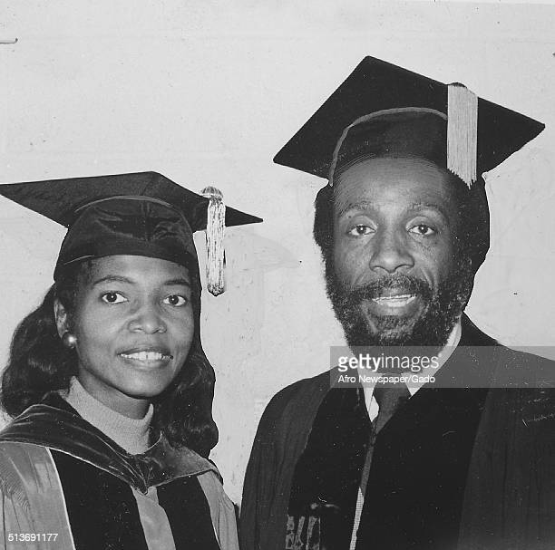 Writer and social activist Dick Gregory receiving an honorary degree October 8 1977