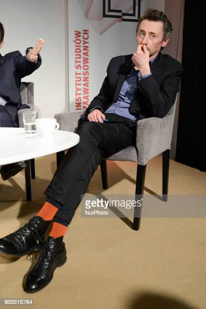Writer and sociologist Maciej Gdula is seen at the presentation of his book Neo Authoritarianism in Warsaw Poland on March 20 2018 Poland has been...