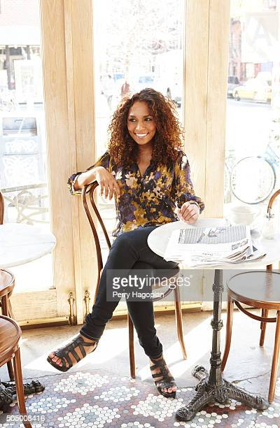 Writer and transgender right activist Janet Mock is photographed for Marie Claire Magazine on March 29 2011 in New York City
