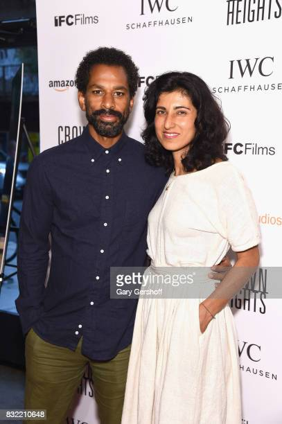 Writer and TV personality Touré and Rita Nakouzi attend the Crown Heights New York premiere at The Metrograph on August 15 2017 in New York City
