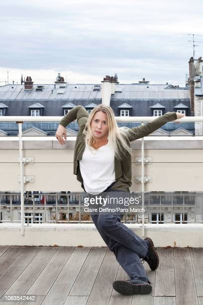Writer Andrea Bescond is photographed for Paris Match in Paris on November 5 2018