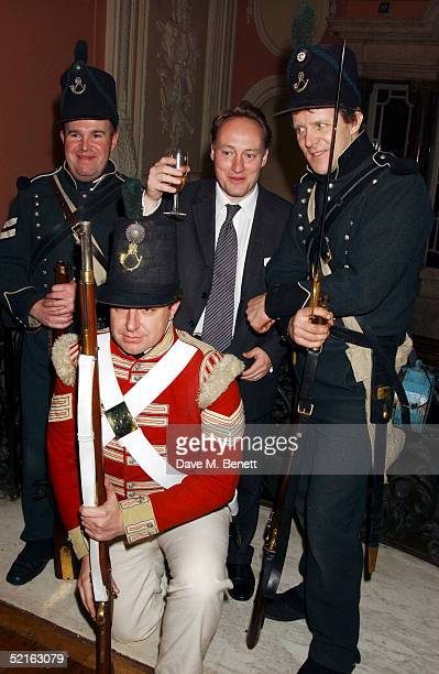 Writer Andrew Roberts attends the book launch for historian Andrew Roberts new book Waterloo at the English Speaking union Club in Mayfair on...