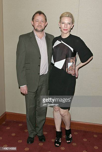 Writer Andrew Upton and actress Cate Blanchett attends the Uncle Vanya cast photo call at the New York City Center on July 21 2012 in New York City