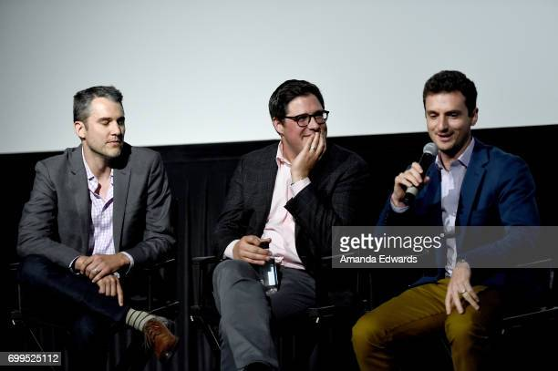 Writer Andrew Zilch actor Rich Sommer and director Trevor White attend the screening of 'A Crooked Somebody' during the 2017 Los Angeles Film...