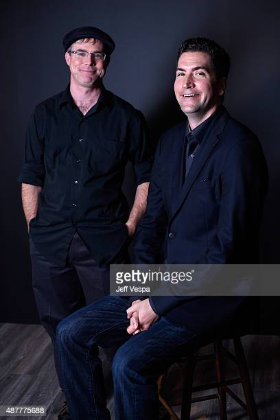 Writer Andy Weir and screenwriter Drew Goddard from 'The Martian' pose for a portrait during the 2015 Toronto International Film Festival at the TIFF...