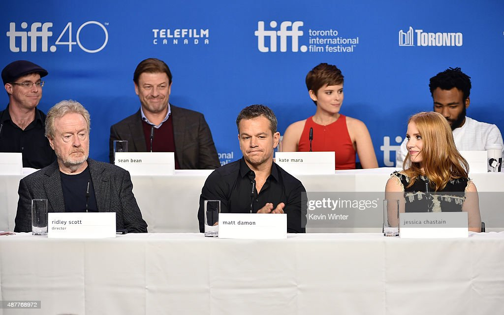 "2015 Toronto International Film Festival - ""The Martian"" Press Conference : News Photo"