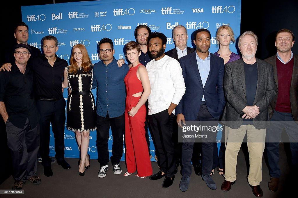 "2015 Toronto International Film Festival - ""The Martian"" Press Conference : News Photo"