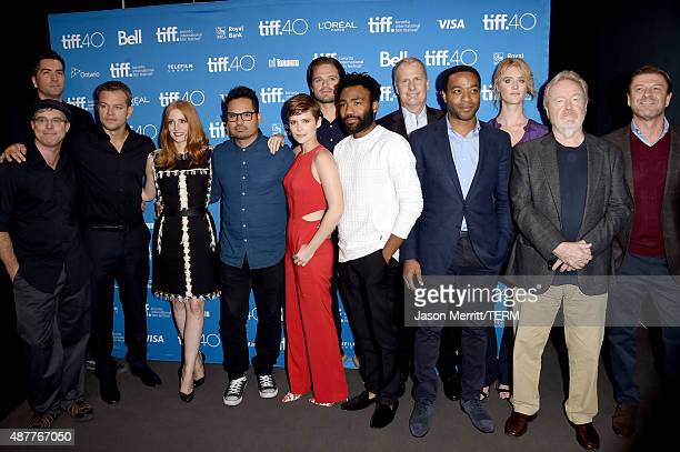 Writer Andy Weir screenwriter Drew Goddard actors Matt Damon Jessica Chastain Michael Pena Kate Mara Sebastian Stan Donald Glover Jeff Daniels...