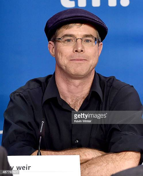 Writer Andy Weir speaks onstage during the 'The Martian' press conference at the 2015 Toronto International Film Festival at TIFF Bell Lightbox on...
