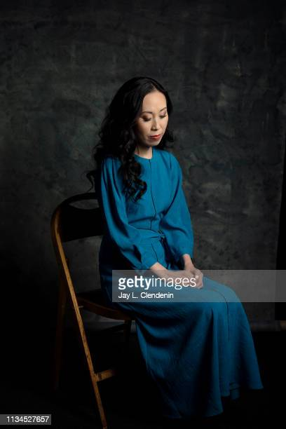 Writer Angela Kang from 'The Walking Dead' is photographed for Los Angeles Times on March 22 2019 during PaleyFest at the Dolby Theatre in Hollywood...