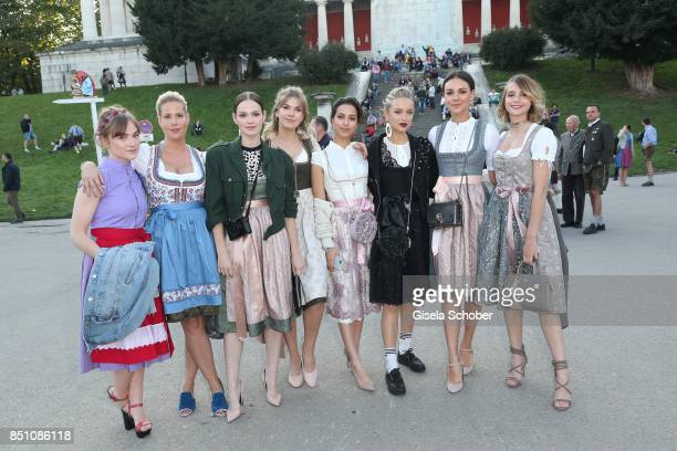 Writer Anika Decker Emilia Schuele Zsa Zsa Buerkle Gizem Emre Caro Cult Janina Uhse Lisa Marie Koroll at the 'Madlwiesn' event during the Oktoberfest...