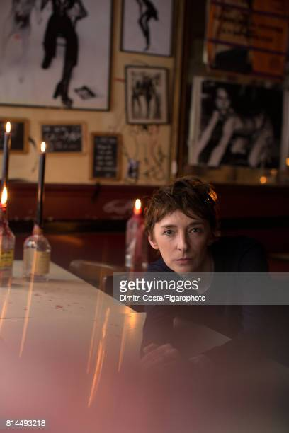 Writer Ann Scott is photographed for Madame Figaro on May 10, 2017 at Le Fanfaron bar in Paris, France. Sweater . PUBLISHED IMAGE. CREDIT MUST READ:...