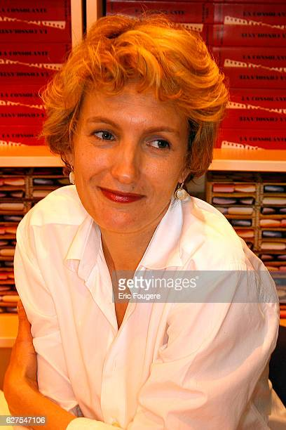 Writer Anna Gavalda photographed in Paris