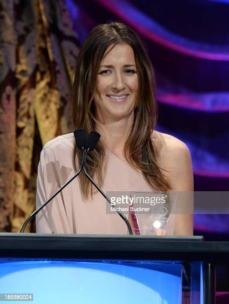 Writer Anna Getty accepts the EMA Green Parent Award onstage during the 23rd Annual Environmental Media Awards presented by Toyota and Lexus at...