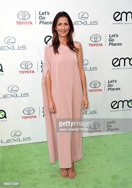 Writer Anna Getty arrives at the 23rd Annual Environmental Media Awards presented by Toyota and Lexus at Warner Bros Studios on October 19 2013 in...
