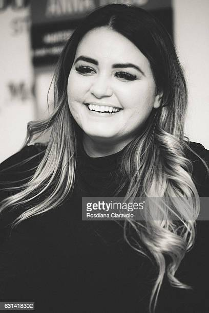 Writer Anna Todd meets fans as she launches her book 'Nothing Less' at Mondadori Store on January 10 2017 in Milan Italy