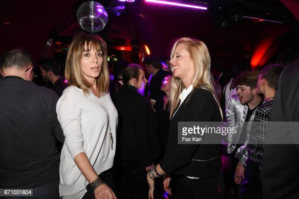 Writer Anna Veronique El Baze and actress Julie Nicolet attend 'Lost Control' Stefanie Renoma Photo Exhibition After Party at Castel Club on April 20...