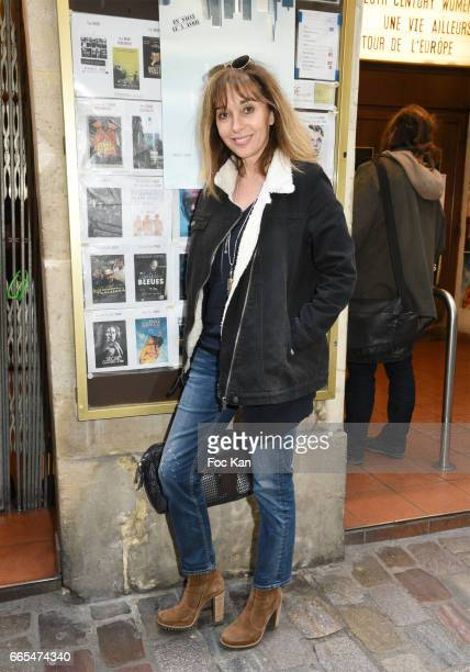 Writer Anna Veronique El Baze attend 'Low Notes' Film Screening at Cinema Saint Andre des Arts on April 6 2017 in Paris France