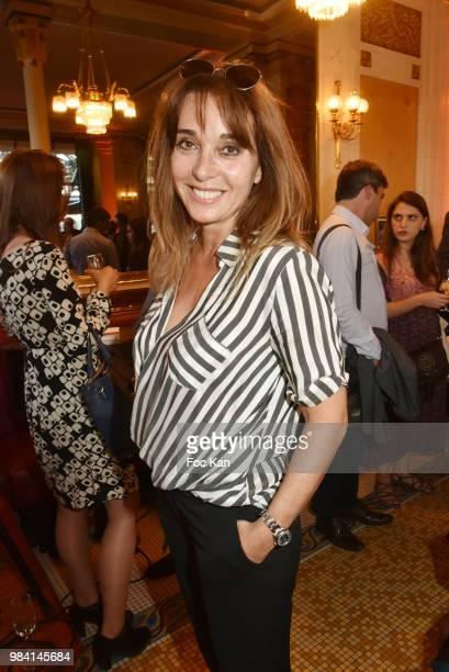 Writer Anna Veronique El Baze attends 'L'Ete Litteraire Des Deux Magots ' Book Signing Cocktail at Les Deux Magots Cafe on June 25 2018 in Paris...