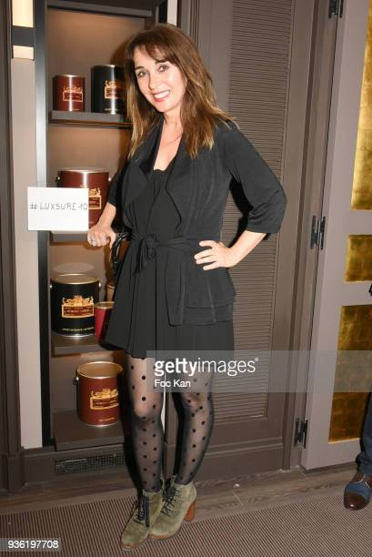 Writer Anna Veronique El Baze attends Luxsure Magazine 10th Anniversary Cocktail on March 21 2018 in Paris France