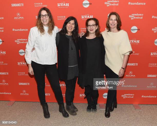 """Writer Anne Rosellini, Director Debra Granik, Producers Linda Reisman, and Anne Harrison attends the """"Leave No Trace"""" Premiere during the 2018..."""