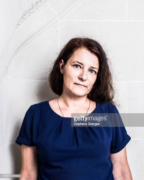 Writer Anne Sophie Nogaret poses for a portrait on September 5, 2017 in Paris, France.