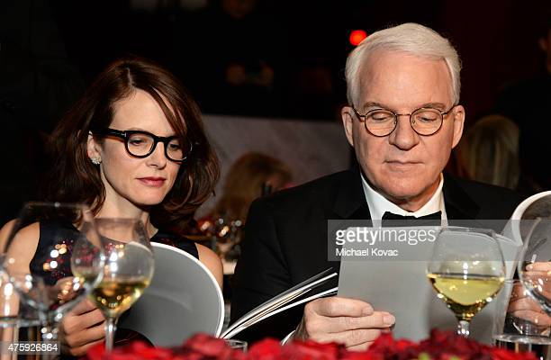 Writer Anne Stringfield and honoree Steve Martin attend the 43rd AFI Life Achievement Award Gala honoring Steve Martin at Dolby Theatre on June 4...