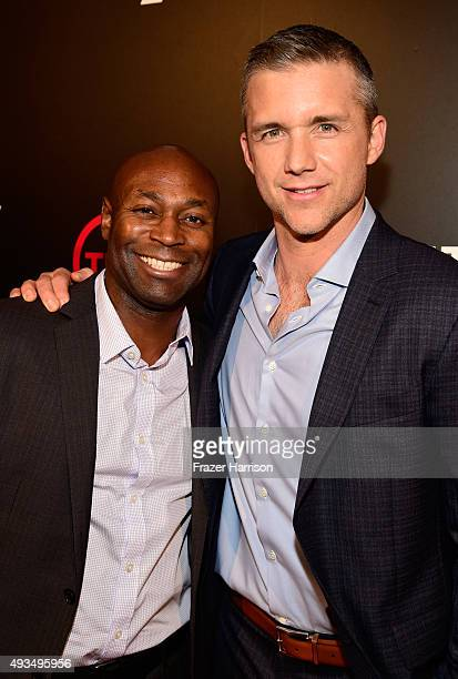 Writer Anslem Richardson and actor Jeff Hephner attend TNT's Agent X screening at The London West Hollywood on October 20 2015 in West Hollywood...