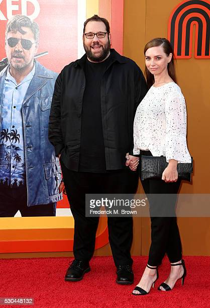 Writer Anthony Bagarozzi and guest attend the premiere of Warner Bros Pictures' 'The Nice Guys' at TCL Chinese Theatre on May 10 2016 in Hollywood...
