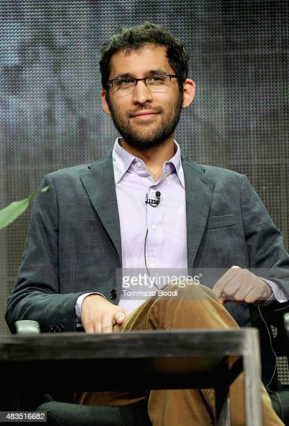 Writer Anthony Burch speaks onstage during a panel for Rocketjump The Show at the Hulu 2015 Summer TCA Presentation at The Beverly Hilton Hotel on...