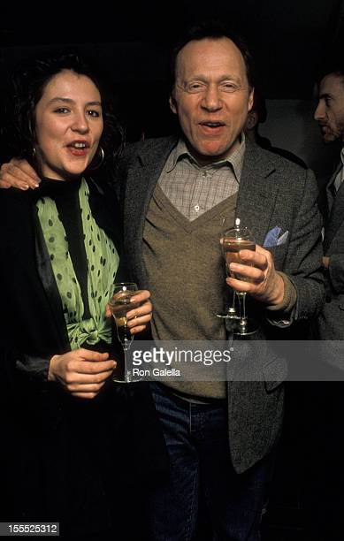 Writer Anthony HadenGuest and guest attend Thiery Mugler Fashion Show on February 16 1989 at Indochine in New York City