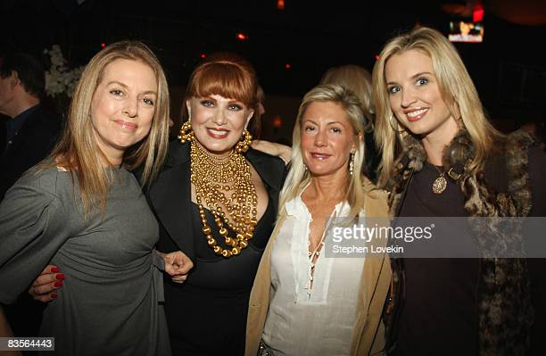Writer Antonella Boralevi CEO of Borghese Georgette Mosbacher Lisa Bittner and Laurie Dhue attend the Bipartisan Election Night Party at Public House...