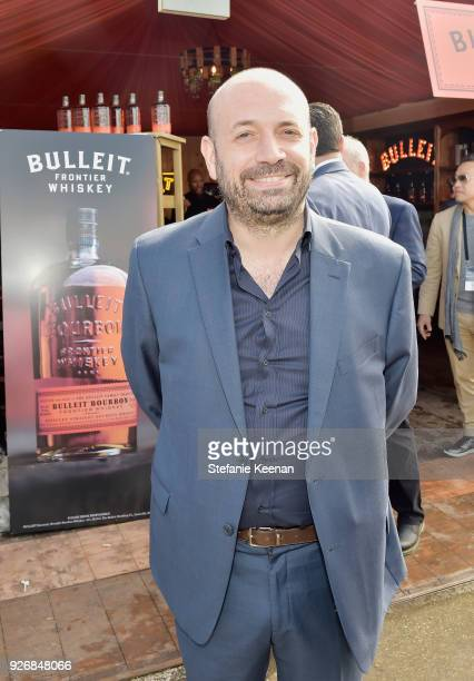 Writer Antonio Mendez Esparza celebrated with a Bulleit cocktail at the Bulleit Frontier Works Whiskey Experience during the 2018 Film Independent...