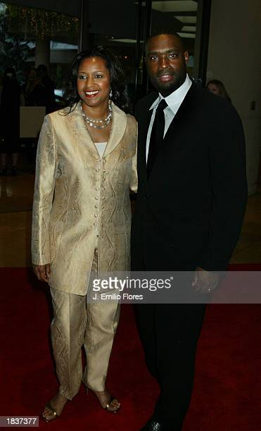 Writer Antwone Fisher and his wife LaNette arrive for the 55th Annual Writers Guild Awards March 8 2003 Beverly Hills California The Guild Awards...