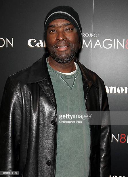 Writer Antwone Fisher attends the premiere of 'When You Find Me' inspired by Canon's 'Project Imagin8ion' held at the Creative Artists Agency on...