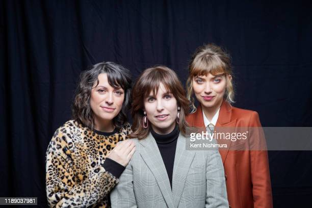 Writer April Wolfe director Sophia Takal and actress Imogen Poots from 'Black Christmas' are photographed for Los Angeles Times on December 3 2019 in...
