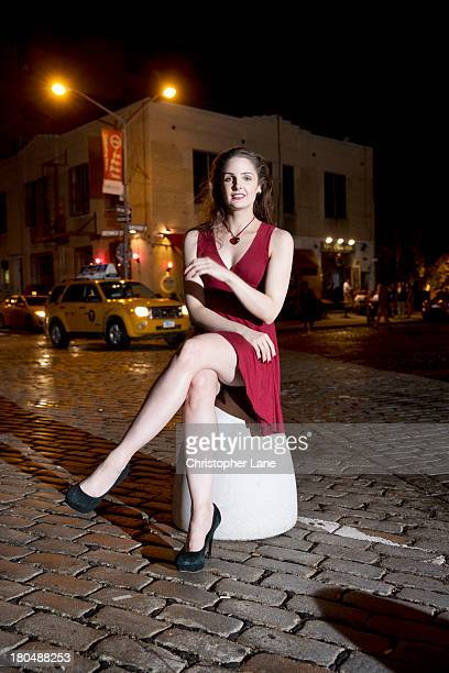 Writer Arden Leigh is photographed for the Times of London on January 7 2013 in New York City