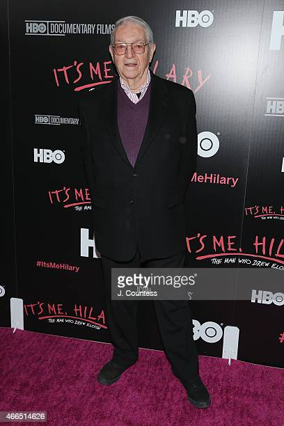 Writer/ Artist Hilary Knight attends 'It's Me Hilary The Man Who Drew Eloise' New York screening at The Plaza Hotel on March 16 2015 in New York City