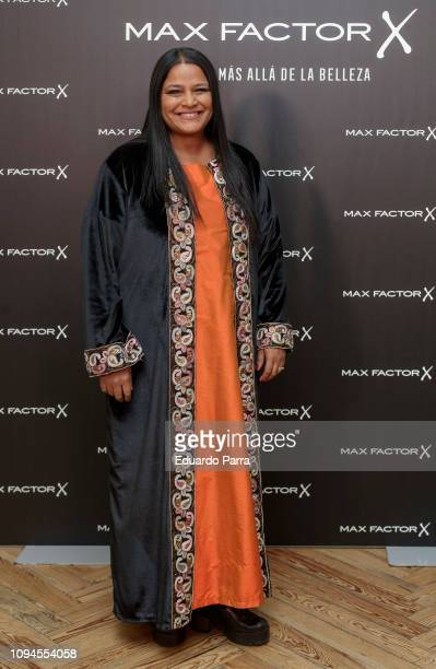Writer Asha Miro attends the 'Max Factor Campaign' presentation at Allard Club on January 15 2019 in Madrid Spain