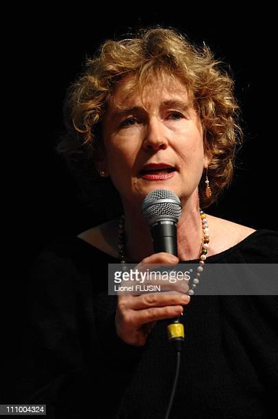 Writer Barbara Polla at the Geneva book fair in Geneva Switzerland on May 06th 2007