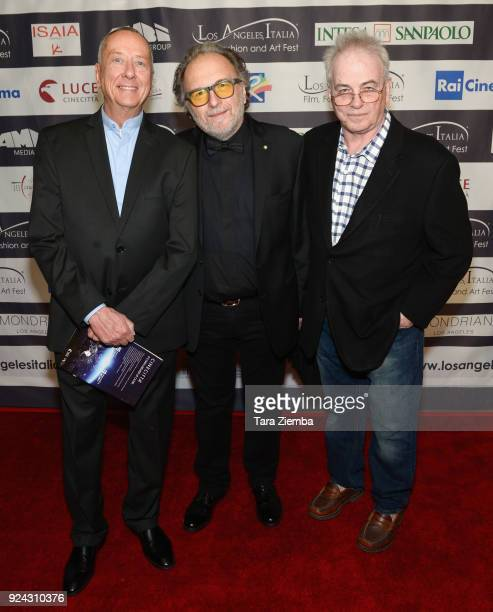 Writer Barry Morrow makeup artist Alessandro Bertolazzi and producer Bobby Moresco attend the 13th Annual LA Italia Fest Film Fest opening night...