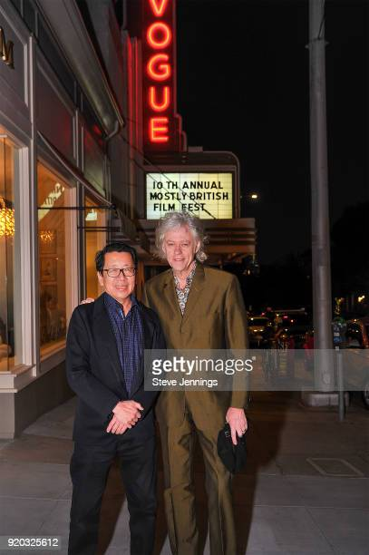 Writer Ben FongTorres and Musician Activist Sir Bob Geldof attend the Mostly British Film Festival for the screening of 'A Fanatic Heart' at Vogue...