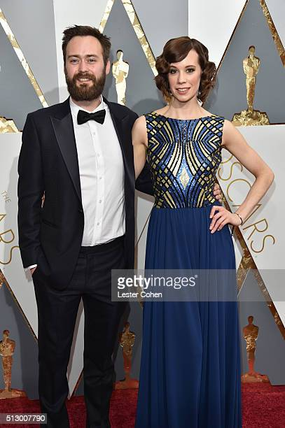 Writer Benjamin Cleary and actress Chloe Pirrie attend the 88th Annual Academy Awards at Hollywood Highland Center on February 28 2016 in Hollywood...